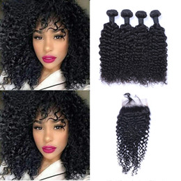 $enCountryForm.capitalKeyWord Australia - Hot Selling Brazilian Jerry Curl Virgin Hair 4Bundles+Lace Closure Unprocessed Peruvian Malaysian Indian Human Hair Extensions free ship