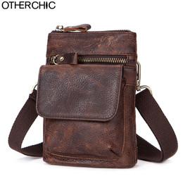 5fd2a26e24bf OTHERCHIC Genuine Leather Bags Men Messenger Bags Small Waist Pack Bag Men  Travel Crossbody Shoulder Bag For Waist 7N04-29