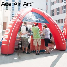Spider tent online shopping - Mini event station inflatable spider tent gathering station car shelter for trade