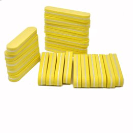 $enCountryForm.capitalKeyWord UK - sponge New Arrive 10pcs lot Manicure sets 100 180 High Quality Professional Sanding Buffer Yellow Small Sponge Nail File