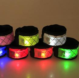 Wrist Slapping Bracelet UK - Led Sports Wristband Slap Wrist Strap Band Light Flash Bracelet Glowing Armband Festive Party Supplies Jewelry OOA5365