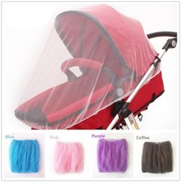 Discount infant stroller cover - Baby Stroller Mosquito Net Full Insect Cover Carriage Kid Foldable Kids Netting Newborn Toddler Infant Baby Crip Netting