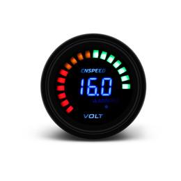 Cnspeed 2 pouces 52mm Leds Numérique Auto Voltmètre Jauge Compteur Racing Voltmètre Jauge avec lumière en Solde