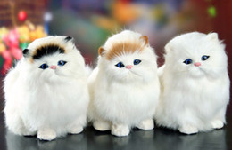 Electronic Pet Animal Toys Australia - Real Hair Cat Dolls Simulation animal toy cats will meowth children's pet cat plush toys ornaments birthday gift Electronic Pet