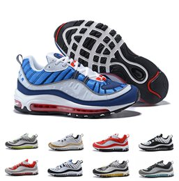 New White Blue Yellow Air OG 98 Gundam designer Running Shoes Mens 98s Black Red Navy zapatos trainers Sports Sneakers UK 6-11