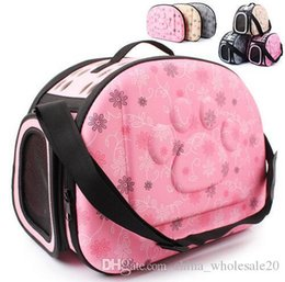 Bags Carry Puppies Australia - Free Shipping Pet Dog Carrier Foldable Puppy Cat Carrying Outdoor Travel Bags for Small Dog Shoulder Bag Soft Pets Dog Kennel Pet Products