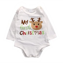 40b027415aee My first Christmas baby cotton romper reindeer onesies long sleeve letter print  jumpsuit bodysuit cute newborn baby boy girl clothing