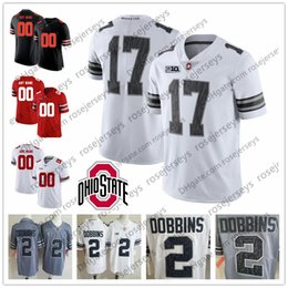 b183e01be Custom 2019 Ohio State Buckeyes White Gray Black Camo Jersey Fields Haskins  George Dobbins Red OSU College Football Stitched Any Number Name