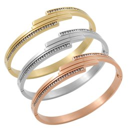 $enCountryForm.capitalKeyWord NZ - MSX Women Jewelry Delicate Rose Gold Color Cross Wave Crystal Bangle 3 Colors High Quality Stainless Steel New Trendy Elegant