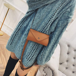 cross bags for girls 2019 - HCH-Women's Fashion Elegant Leather Brown Waist Fanny Belt Crossbody Pack Bags With Purse Pocket Stylish For Girls
