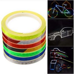 $enCountryForm.capitalKeyWord NZ - 8m*1cm Colorful Reflective Stickers Strip Motorcycle Bicycle Fluorescent Reflector Safety Rim Decal Tape for Motorbike Bike