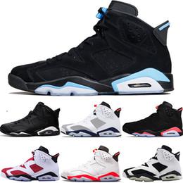 a7d87dea29 Nike Air Jordan 6 Retro Designer Männer 6s Basketball Schuhe Tinker Toro  UNC Gatorade Oreo schwarze Katze Weiß Infrarot Carmine Maroon Trainer Sport  ...