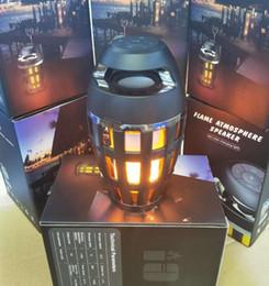 2018 mode créative, étanche et étanche à la poussière Bluetooth sound box led flamme lampe cafe bar atmosphère lampe business cadeau lampe
