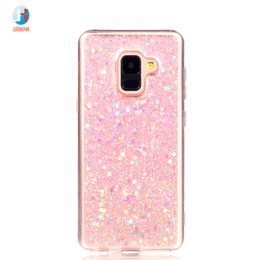 Fashion Flash slice Cover For Coque Samsung Galaxy A8 2018 Case Acrylic  Soft TPU silicon Mobile Phone Case For Galaxy A5 2018 58612fad08cb