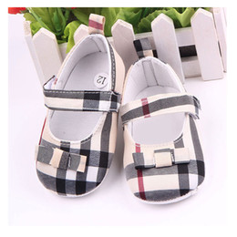 Beautiful Baby Shoes Australia - New Arrival Beautiful Gingham Baby Shoes Girls Butterfly Knot Baby Girl Shoes For Newborn 0-15M Moccasins F7