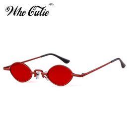 8552806ed18a0 WHO CUTIE 2018 Retro 90S Slim Sunglasses Women Brand Designer Thin Tiny  Frame Small Oval Sun Glasses Black Red Pink Shades OM732