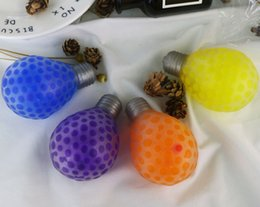 Squeezing Balls Free UK - Simulation Light Bulb Squeeze Ball Squishy Bubble Grape Ball Anti-Stress Decompression Toys Kids Gift Free Shipping