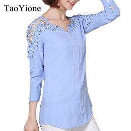 $enCountryForm.capitalKeyWord Australia - Women Blouses Femininas Female Blusas Lace Sexy Blouse Shirt Women Long Sleeve V-Neck Casual Tops Shirts Plus Size Ladies Shirts