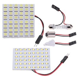 36//48 smd cob led 12v white light car interior panel lights dome lamp bulb WD