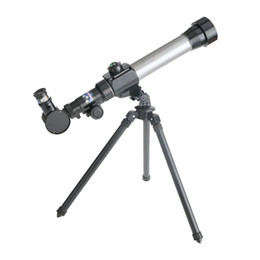 Plastic Tripod UK - 20X~40X Children Astronomic Tripod Telescope with Compass Search Stars Moon Observed Universe Lab Instruments Science Educational Kids Toys