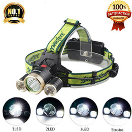 bright rechargeable headlamps NZ - LED Headlamp 1*T6+2*XPE 4 Modes 3600Lm LED Headlight Waterproof Flashlight Super Bright Hunting Lamp For Bicycle Camping Hiking