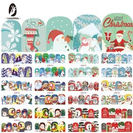 Christmas Gift Nails Australia - LadyMisty Christmas Snowman Tree Gifts Houses Water Transfer Nail Art Sticker Decal Slider Manicure stickers Tools Nail Applique