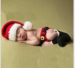 $enCountryForm.capitalKeyWord Australia - Newborn Baby Handmade Beanies Christmas Costume Knitted Crochet Photography Props Newborn Photo Baby Caps Hats