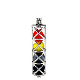Chinese  10pcs lot Silver Alloy Big Funnel Cross Rectangle Oysters Beads Cage Locket Pendant Aromatherapy Perfume Essential Oils Diffuser manufacturers