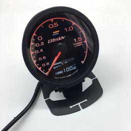62 mm 2.5 pulgadas 7 colores en 1 Racing GReddy Multi D / A Pantalla digital LCD Turbo Boost Gauge Auto Gauge Sensor