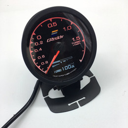 Discount gauge 62mm 2.5 Inch 7 Color in 1 Racing GReddy Multi D A LCD Digital Display Turbo Boost Gauge Auto Gauge Sensor