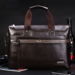 Polo leather shoulder bag online shopping - 2018 New Fashion pu Leather Bags for Men famous brand POLO Men s Shoulder Bag Leather Messenger Bag briefcase sac a main Bolsa