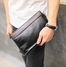 $enCountryForm.capitalKeyWord NZ - Factory outlet brand men bag fashion multi-functional storage bag in hand way Oxford men wrist bag large capacity contrast leather wallet