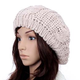 $enCountryForm.capitalKeyWord UK - Women Fashion Beige Beret Braided Baggy Beanie Crochet Hat lady Cap Fashion Beige