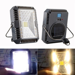 emergency led flashlight lamp 2019 - Solar Energy Charge Mini Portable LED Flashlight Camping Light 5W LED Waterproof Tent Light USB Charging Outdoor Emergen
