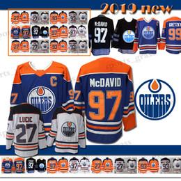 82ccbe940 youth 93 Ryan Nugent-Hopkins 27 Milan Lucic Edmonton Oilers Hockey Jersey  Men s 99 Wayne Gretzky 97 Connor McDavid Jerseys 2018 new