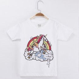 $enCountryForm.capitalKeyWord Canada - 2018 New Arrival Kids Clothes Children T-shirt Horse Unicorn Cat 100% Cotton Haft Child Shirt Girl Short Sleeve T Shirts Baby Girls Tops Tee