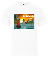 Vietnam White Canada - 2018 Crossfit T Shirts Best Destinations In The World Hanoi Bay Vietnam Mens Tshirt Tee Top AG24 High Quality Top Tees