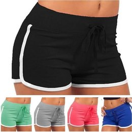 7 Colors Women Cotton Yoga Sports Shorts Gym Leisure Homewear Fitness Pants Summer Drawstring Shorts Beach Running Exercise Pants T3I0414 from mini white cocktail dresses manufacturers