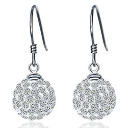 Wholesale 925 silver jewelry Xiang Ba La ball earrings ladies fashion Japan and South Korea earrings temperament tide earrings