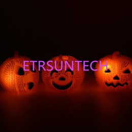 $enCountryForm.capitalKeyWord Australia - LED Gel Pumpkin Ball Halloween Props Party Decoration Glow In The Dark Pumpkin Ball Funny Toy For Kid's QW7841