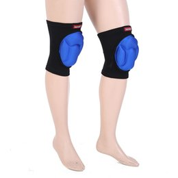 $enCountryForm.capitalKeyWord Australia - Black And Blue Sports Anti-collision Pad Sponge Knee Support Pair Neoprene Guard Protect Gear