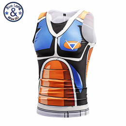 China Anime Dragon Ball Z Tank Tops Men Women Summer O-Neck Goku Vegeta 3D Tank Tops Hip hip Compression Tank Tops Vest Cartoon Jersey suppliers