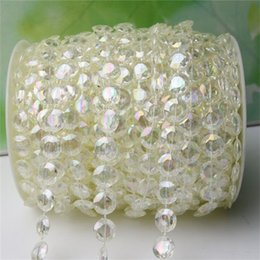 Beads for stringing online shopping - 10mm Crystal Bead Chain String For Background Layout Wedding Decorations DIY Multi Storey Connection Line Beads Meters A Roll ad FZ