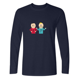 funny men t shirts UK - Funny t shirts South Park T Shirt Long Sleeve Cotton For fitness t shirt Men Tee Shirt Clothes Fashion men clothing tshirt