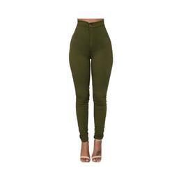 Ingrosso Jeans a vita alta multicolor da donna di alta qualità di moda a vita alta elasticizzata elasticizzata casual look jeans abbigliamento donna