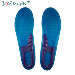 gel padding NZ - Foot Care Silicone Gel Insoles Shock Absorption Soft Comfortable Pads Women Men