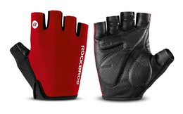 Bicycle Gloves Mountain NZ - ROCKBROS Cycling Gloves Half Finger Bike Gloves Shockproof Breathable MTB Mountain Bicycle Gloves Men Sports Cycling Clothings
