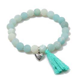 China Bracelet Men Chakra Bracelets Women Yoga Natural Stone Beads Matte Amazonite Love Heart Meditation Jewelry Lovers Gift supplier meditation set suppliers
