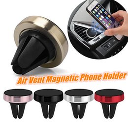 Wholesale iphone effects resale online - Air Vent Magnetic Mount Smartphone Stand Metal Magnet Holder with Reinforced Magnetic No Effect GPS Car Holder For Samsung S8 Iphone