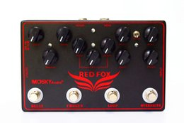 Echo Pedals Australia - RED FOX Overdrive ,LOOP, Chorus,Delay 4 Effects Pedal in 1 Unit Guitar Effect Pedal Multi-Effect Pedal